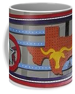 Coffee Mug featuring the mixed media Texas State Of Mind by Robert Margetts