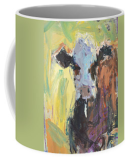 Expressive Cow Artwork Coffee Mug