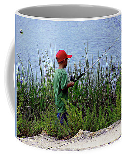 Fishing At Hickory Mound Coffee Mug