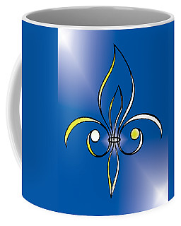 Fleur De Lis In Gold Coffee Mug