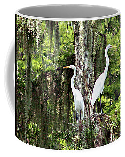 Great White Egrets Coffee Mug