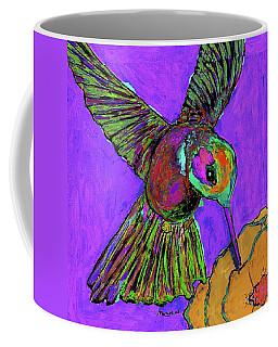 Hummingbird On Purple Coffee Mug