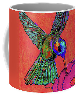 Hummingbird On Red Coffee Mug