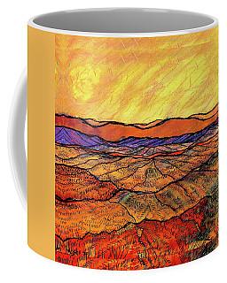 Landscape In Yellow Coffee Mug