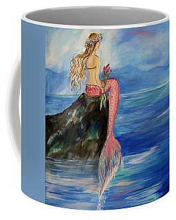 Mermaid Wishes Coffee Mug by Leslie Allen
