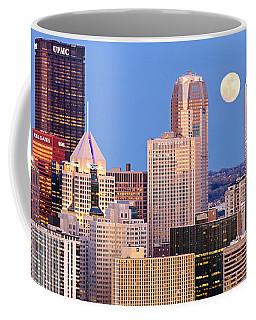 Moon Over Pittsburgh 2 Coffee Mug by Emmanuel Panagiotakis