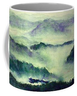 Coffee Mug featuring the painting Mountain Oriental Style by Yoshiko Mishina