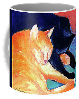 Orange And Black Tabby Cats Sleeping Coffee Mug