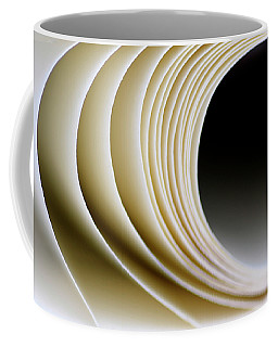Coffee Mug featuring the photograph Paper Curl by Pedro Cardona