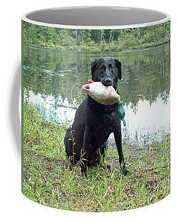 Coffee Mug featuring the photograph Retrieve Training At Island Lake by Pamela Patch