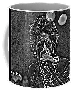 Coffee Mug featuring the digital art Willie Nile by Jeff Ross