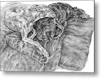 Rescued Greyhound Drawings Metal Prints