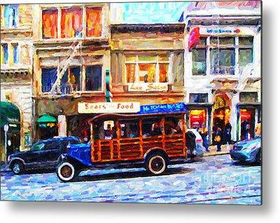Tour Bus San Francisco Metal Prints