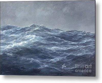 Turbulent Skies Paintings Metal Prints
