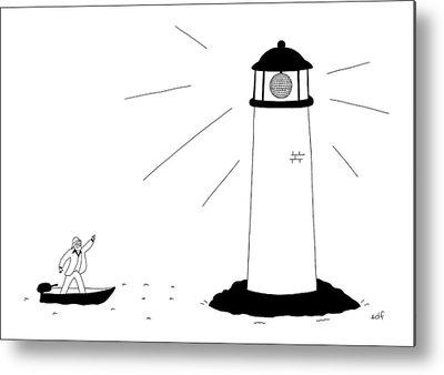Lighthouse Drawings Metal Prints