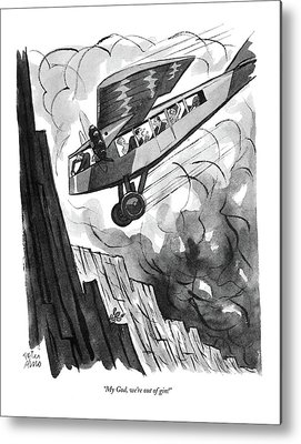 Passenger Plane Drawings Metal Prints