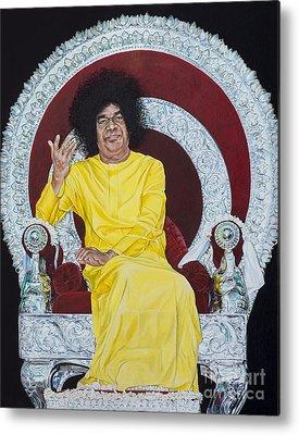 India Babas Paintings Metal Prints
