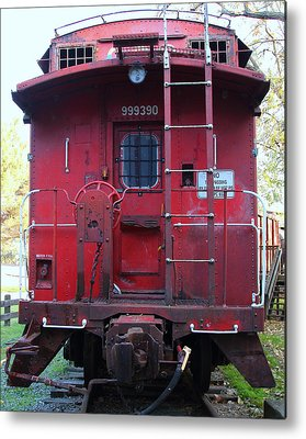 Old Caboose Photographs Metal Prints