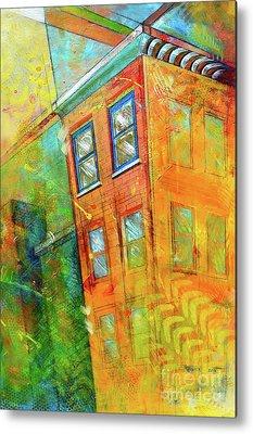 Buildings Paintings Metal Prints