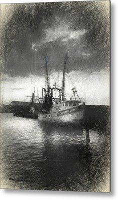 Trawler Mixed Media Metal Prints