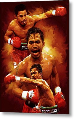 Manny Pacquio Metal Prints