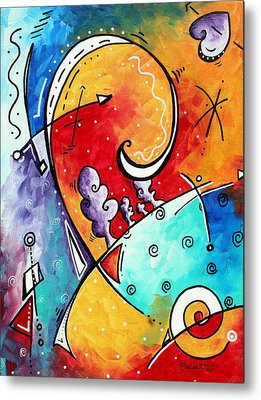 Colorful Abstract Paintings Metal Prints