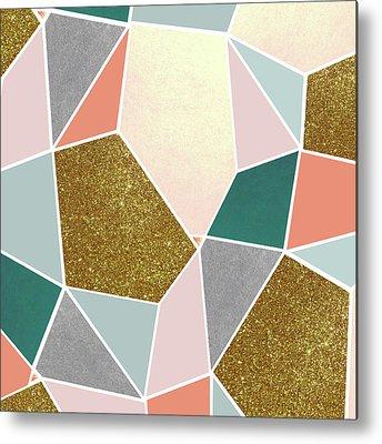 Sparkling Rose Metal Prints