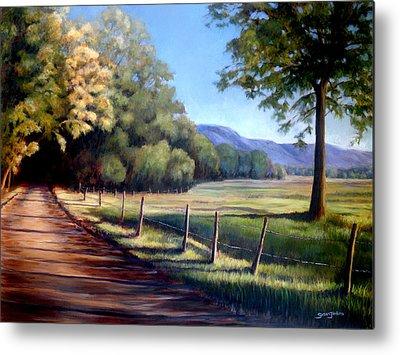 Smokey Mountains Paintings Metal Prints