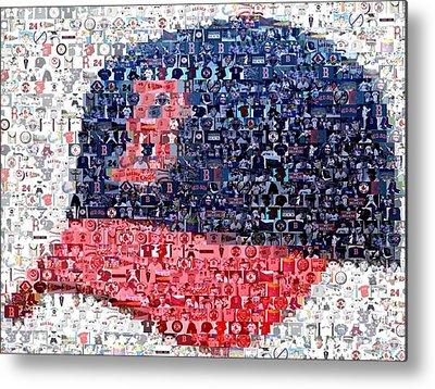 Red Sox Digital Art Metal Prints