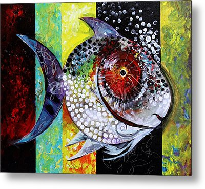 Famous Fish Abstract Metal Prints