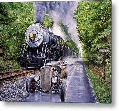 Race Metal Prints