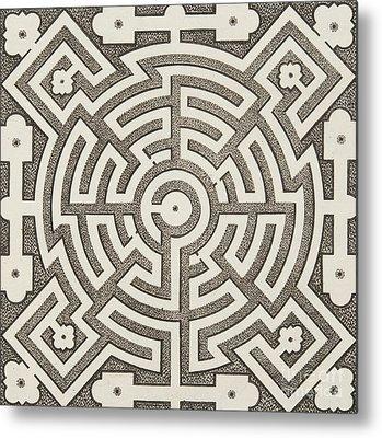 Optical Illusion Maze Metal Prints