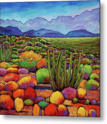 Southwest Landscape Paintings Metal Prints