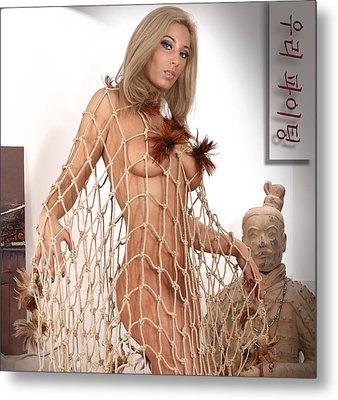 Art Nude A Metal Print by Emil Jianu