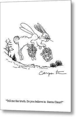 Easter Bunny Truth  Metal Print