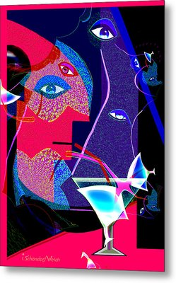 Fractal Fatal 264 Metal Print by Irmgard Schoendorf Welch