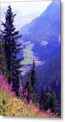 Metal Print featuring the photograph  High Mountain Pastures by Giuseppe Epifani
