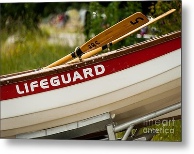 The Lifeguard Boat Metal Print