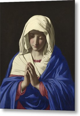 The Virgin In Prayer Metal Print by Sassoferrato