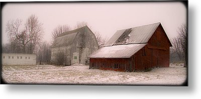 020213-112   Prairie Winter Fantasy II Metal Print by Mike Davis