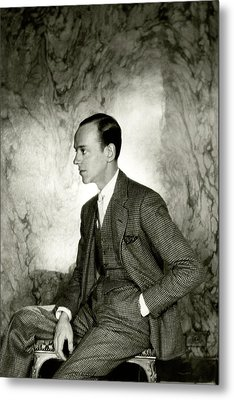 A Portrait Of Fred Astaire Sitting Metal Print