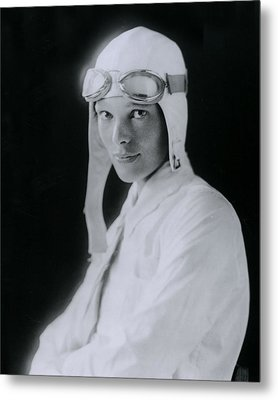 Amelia Earhart Metal Print by Retro Images Archive