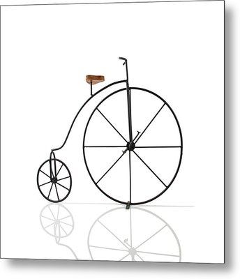 Antique Bicycle Metal Print by Kitty Ellis