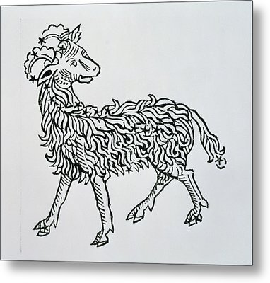 Aries An Illustration From The Poeticon Metal Print by Italian School