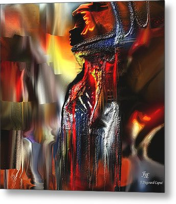 Astral  Metal Print by Francoise Dugourd-Caput
