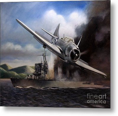 Metal Print featuring the painting Attack On The Yura by Stephen Roberson
