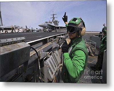 Aviation Boatswain's Mate Signals Metal Print by Stocktrek Images