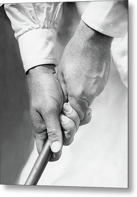 Bobby Jones Holding A Golf Club Metal Print