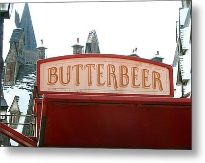 Butterbeer Sign Metal Print by Shelley Overton