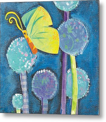 Butterfly And The Dandies Metal Print by Shelley Overton